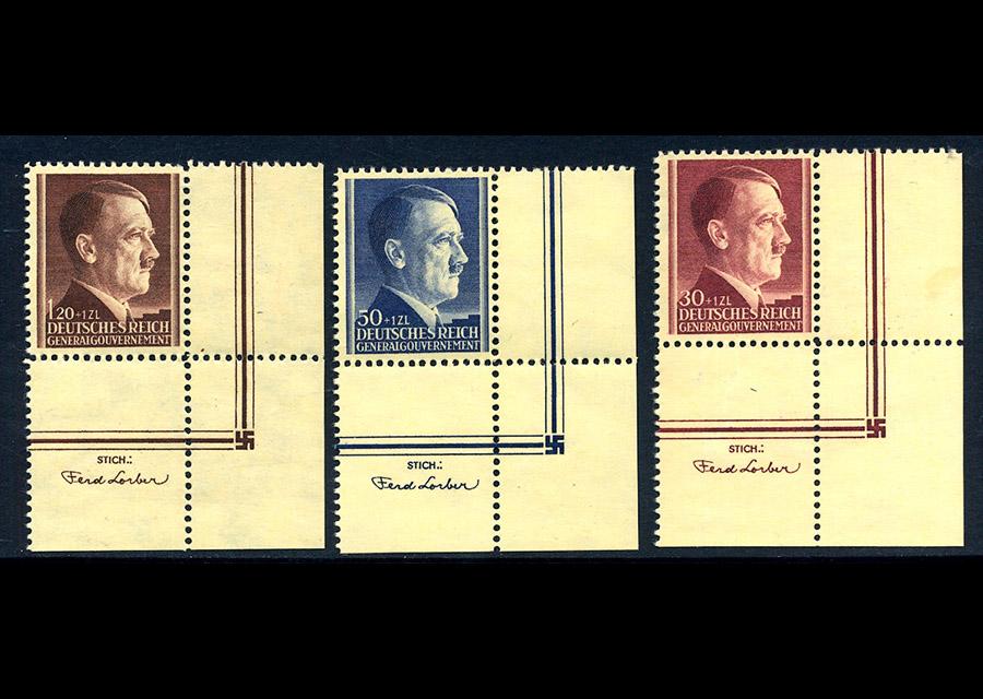 Generalgouvernement Mi. 89-91 1942 czyste ** MNH z przywieszką Pw. 4