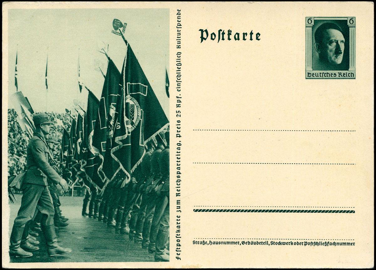 Deutsches Reich Ganzache P 264/02 Reichsparteitag in Nürnberg 1937